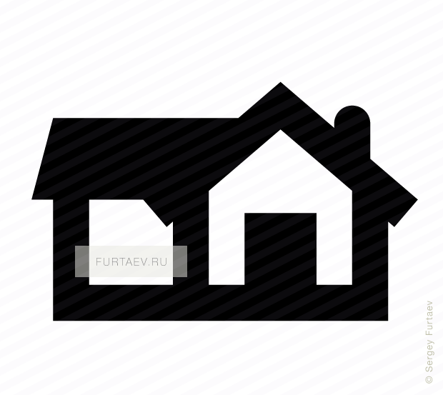 Vector icon of big house