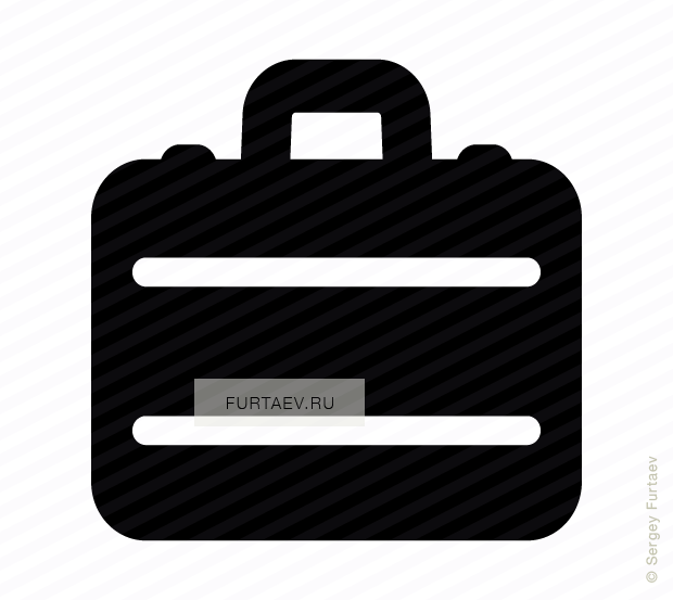 Vector icon of suitcase