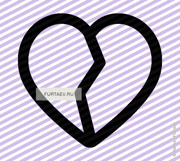 broken heart icon - vector free download