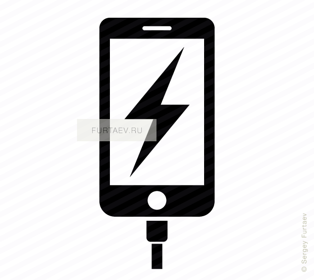 Charging phone vector icon