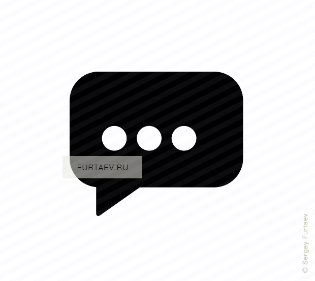 Vector icon of speech balloon with three dots as typing indicator