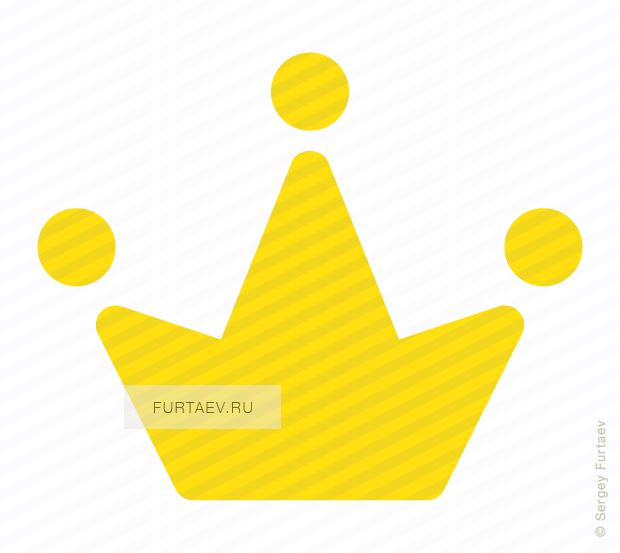 Vector icon of crown