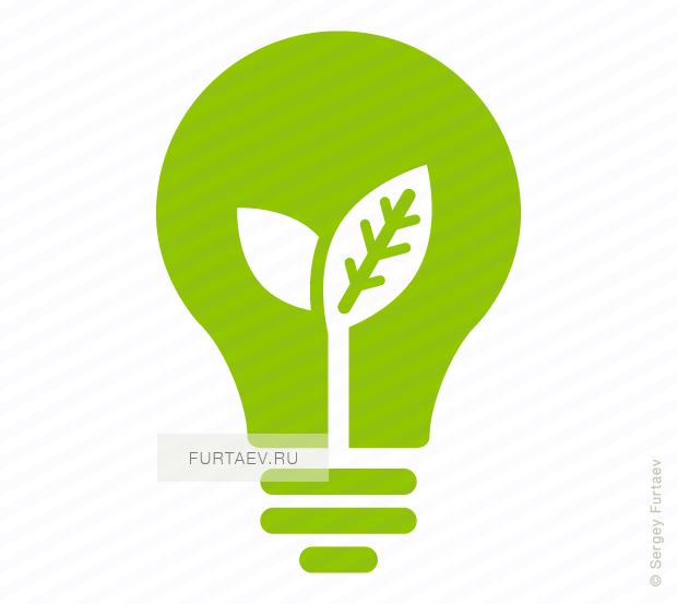 Green Light Bulb Png