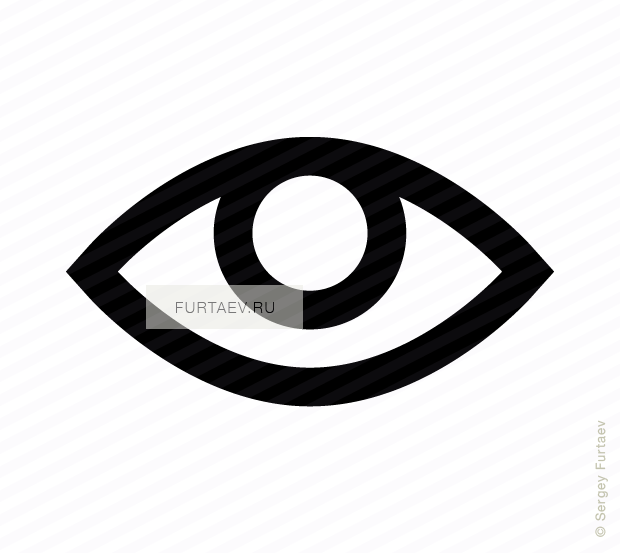 Vector icon of open eye