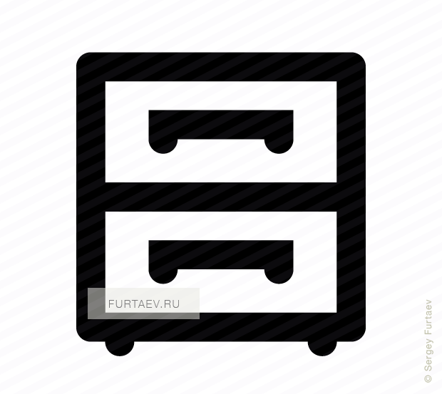 Filing cabinet vector icon
