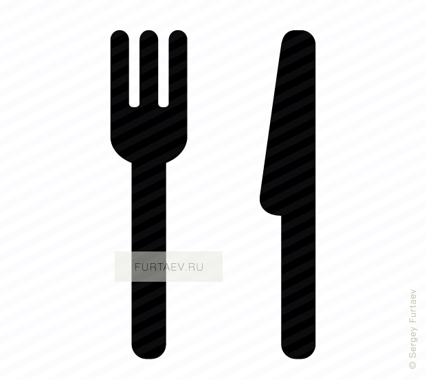 Vector icon of eating utensil