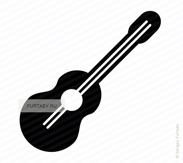 Vector icon of acoustic guitar