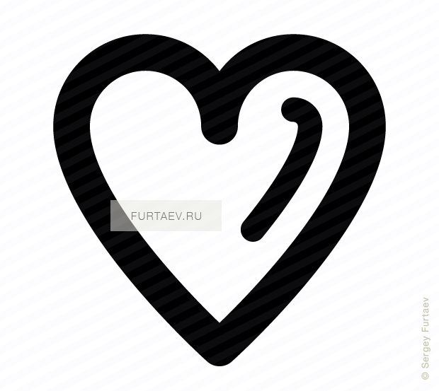 Vector icon of heart