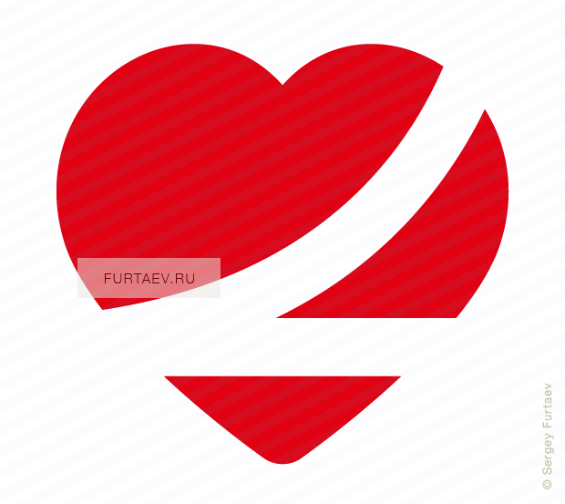 Vector icon of buckled up heart