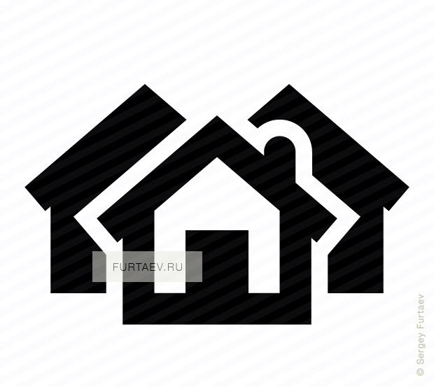 Vector icon of several houses