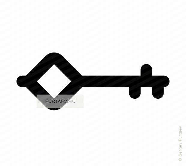 Vector icon of key