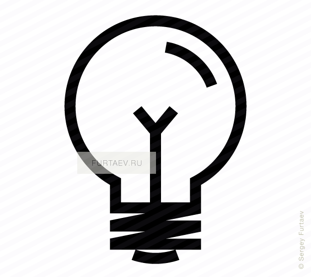 Vector icon of electric lamp