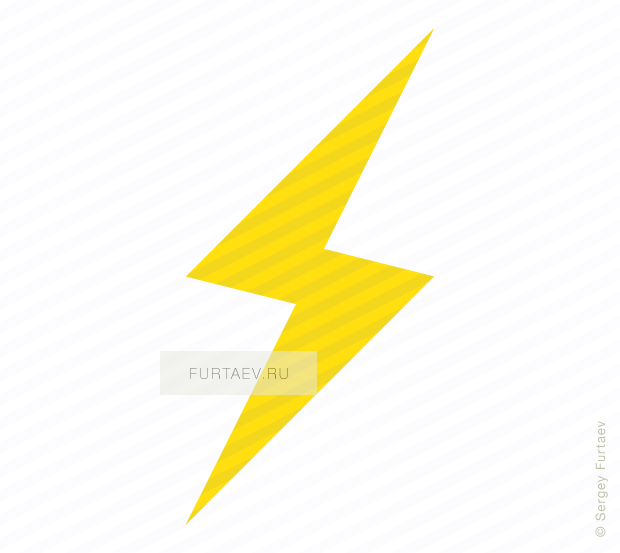Vector icon of lightning flash