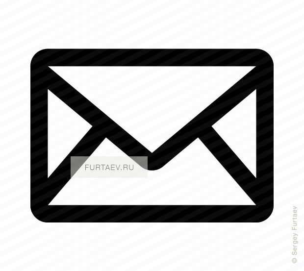 Vector icon of envelope