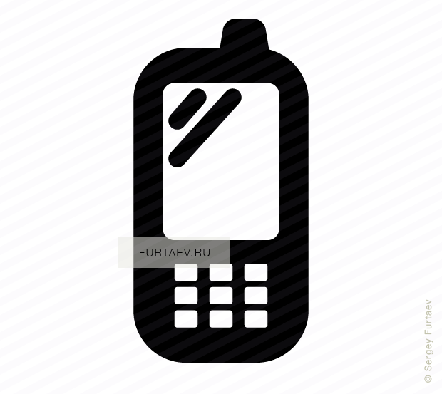 Vector icon of cell phone