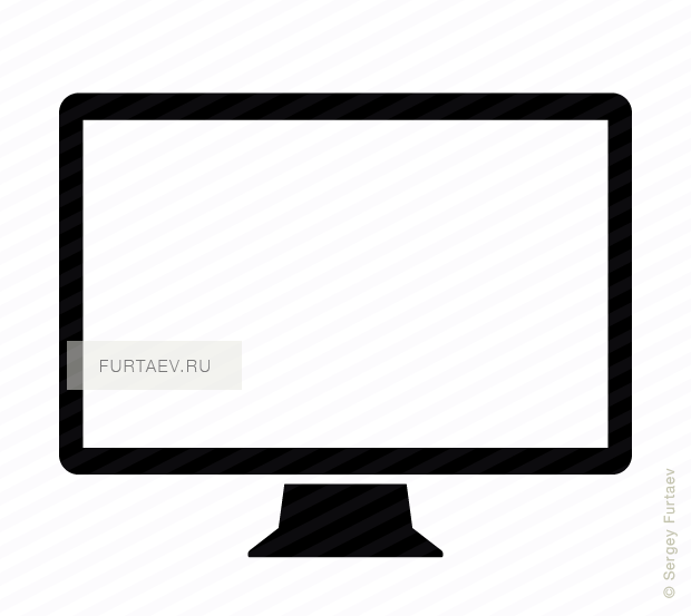 Vector icon of computer display