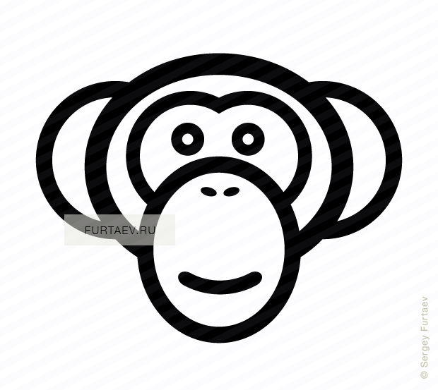 Vector icon of ape