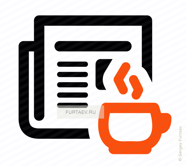 Vector icon of hot cup against newspaper