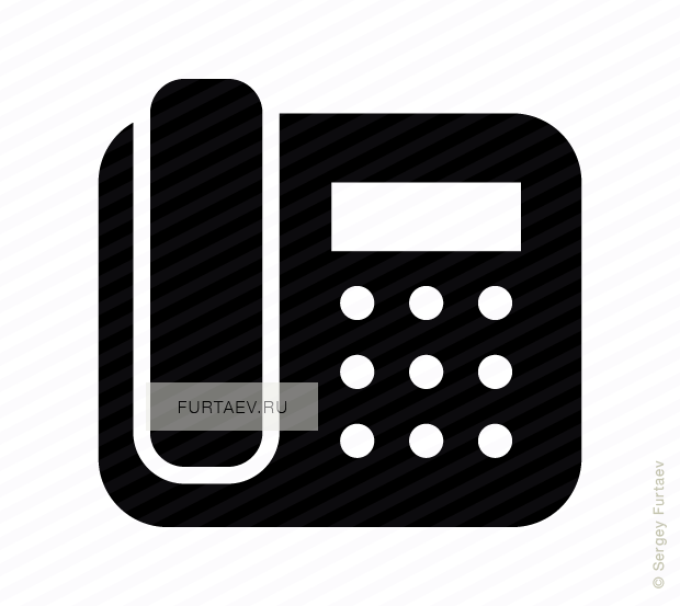 Vector icon of push-button telephone