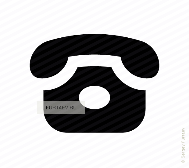 Vector icon of classic rotary telephone