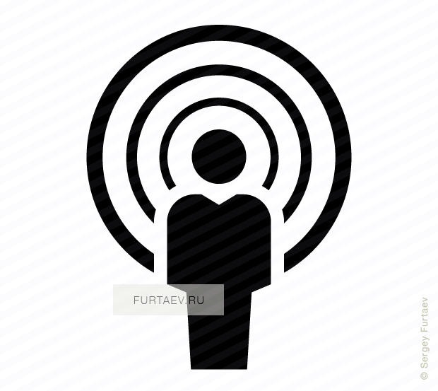 Vector icon of speaking man