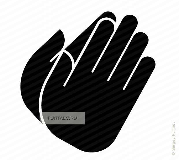 Vector icon of folded hands