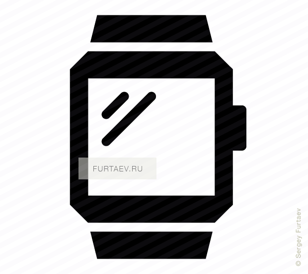 Vector icon of smart watch