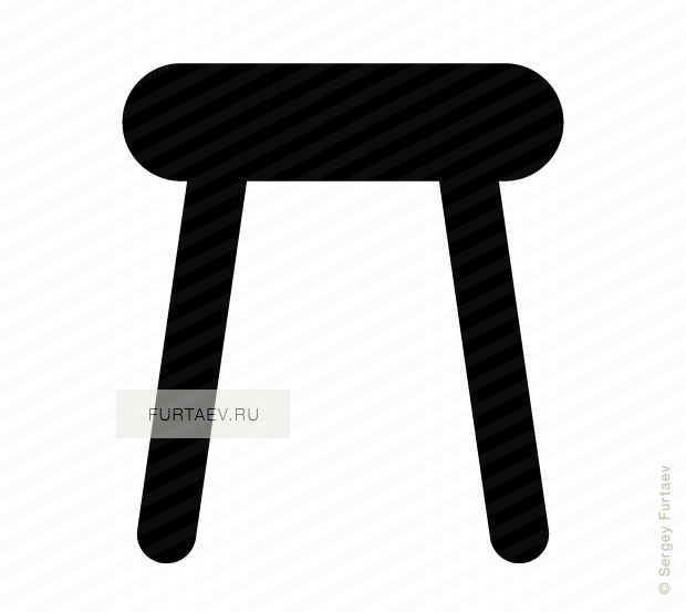 Vector icon of seat furniture