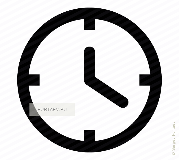 Vector icon of clock