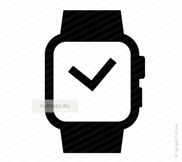 Vector icon of wristwatch