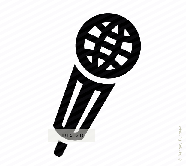 Vector icon of globe in microphone